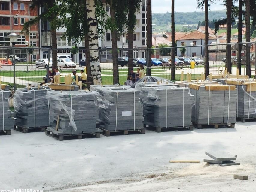 Poplocavanje centra grada u Sjenici / Sjenica Jula 2015.