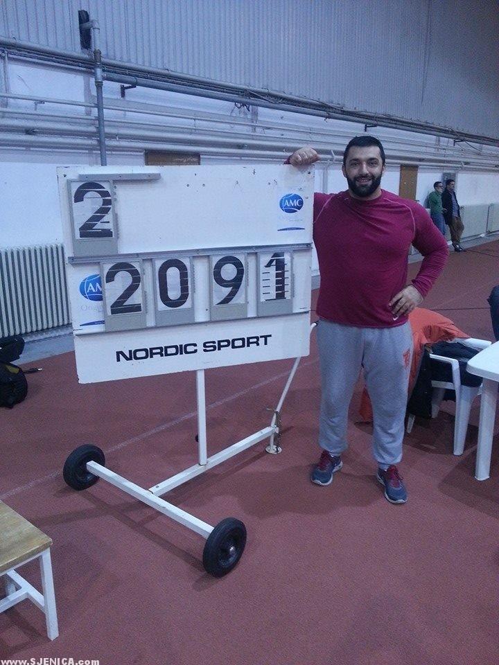Asmir Kolasinac - novi drzavni rekord 20.91m.