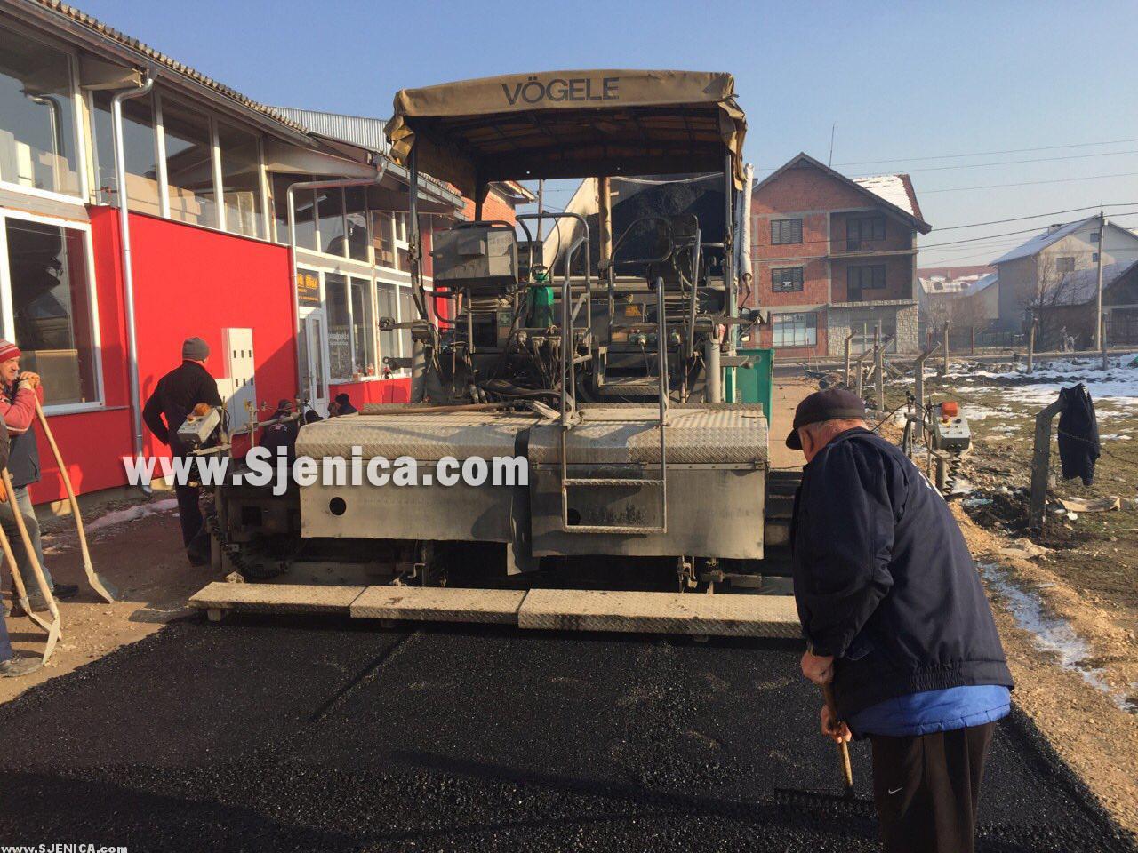 Astfaltiranje ulice Ahmeta Abdagice (Nova) u Sjenici - Decembar 2015