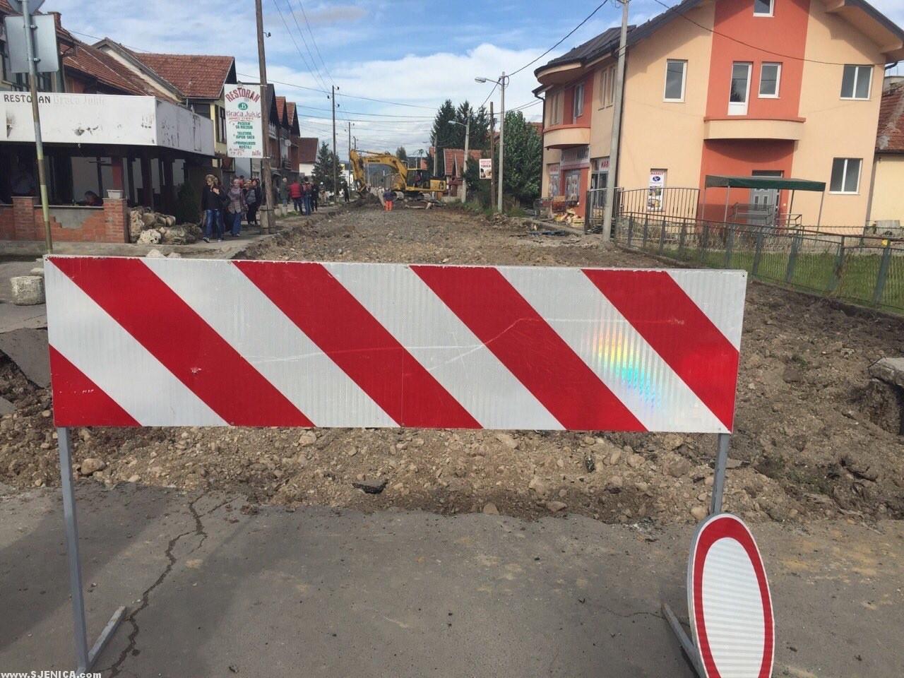 Rekonstrukcija NOVE ulice u Sjenici / Oktobar 2015.