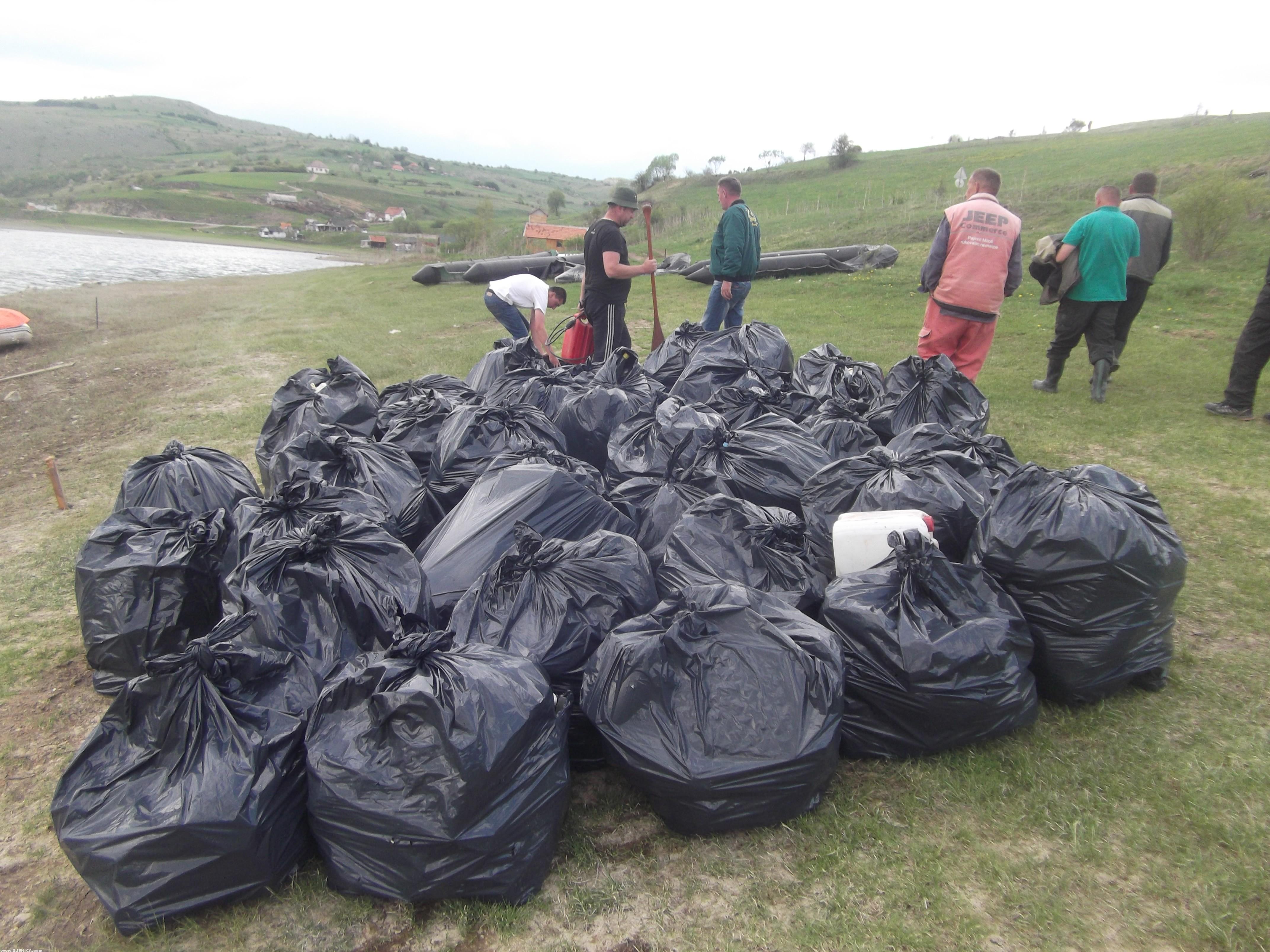 Ciscenje sjenicko jezera - maj 2015