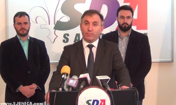 Konferencija za novinare Novi Pazar 16.03.2015. Hazbo Mujovic