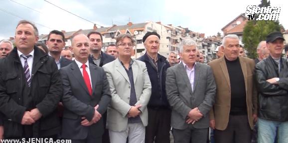Podizanje bosnjacke nacionalne zastave 2015 - hazbo Mujovic, Senad Mahmutovic, Heman Muftarevic, Fehim Feho Tahirovic, Muhedin Fijuljanin