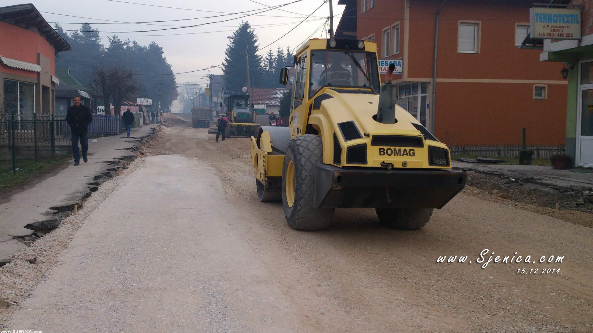 Sjenica - Radovi u carsiji 15.12.2014.