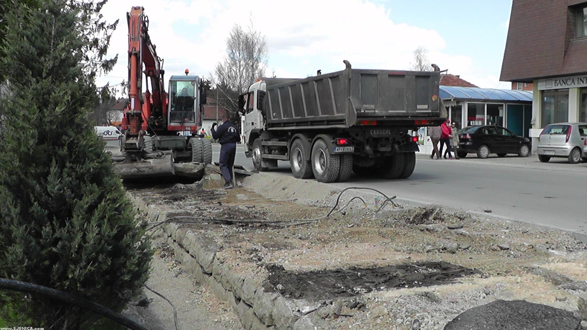Rekonstrukcija rasvete u Sjenici 22.04.2015.