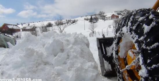 Snijeg bager / Sjenica / Mart 2015